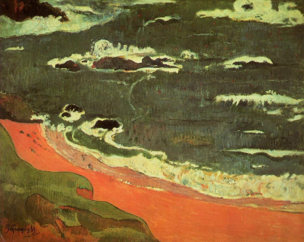 Beach at Le Pouldu 1889 | Paul Gauguin | oil painting