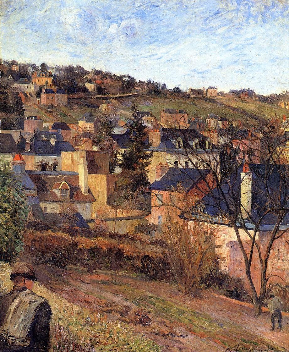 Blue Roofs Rouen 1884 | Paul Gauguin | oil painting