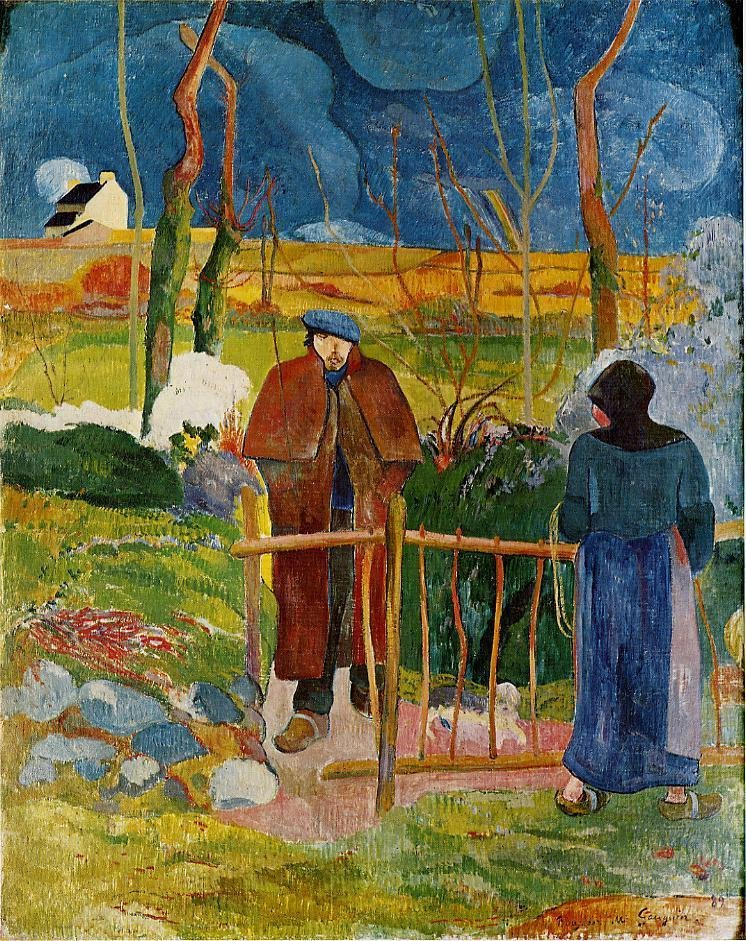 Bonjour Monsieur Gauguin 1889 | Paul Gauguin | oil painting