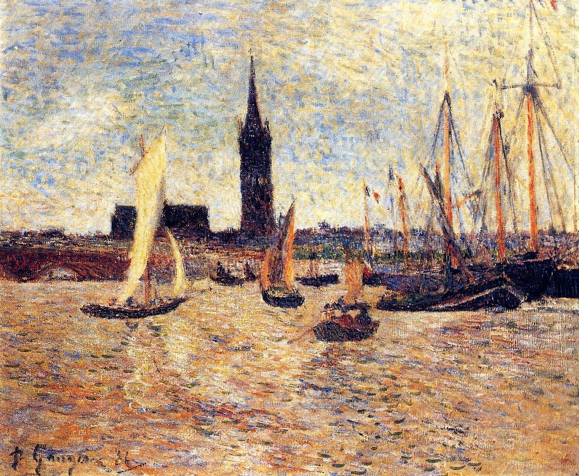 Bordeaux Harbor 1886 | Paul Gauguin | oil painting