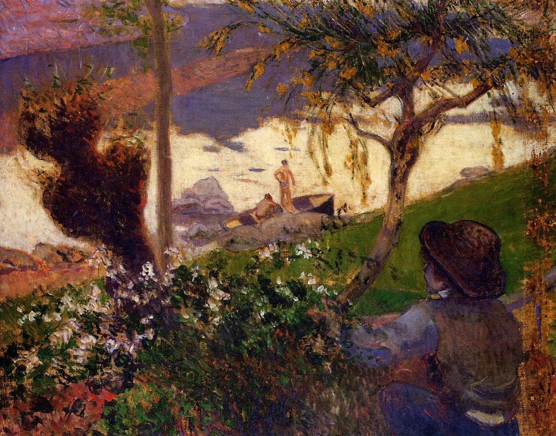 Breton Boy by the Aven River 1888 | Paul Gauguin | oil painting