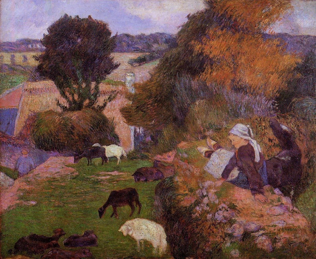 Breton Shepherdess 1886 | Paul Gauguin | oil painting