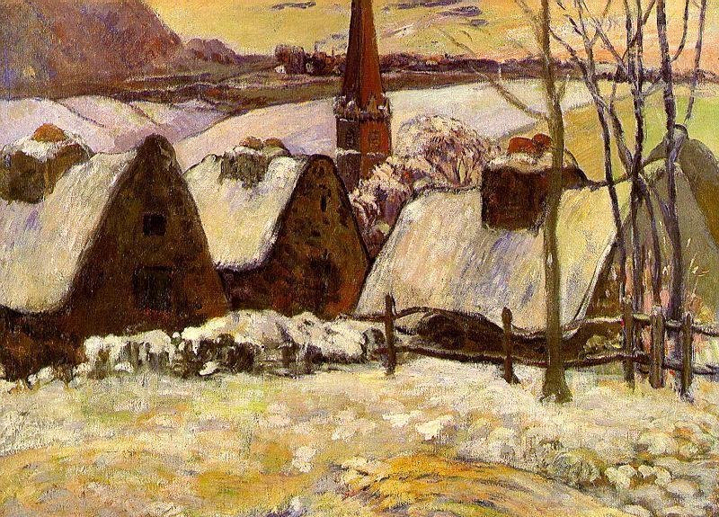 Breton Village in the Snow 1894 | Paul Gauguin | oil painting