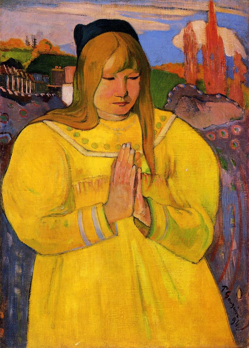Breton Woman in Prayer 1894 | Paul Gauguin | oil painting