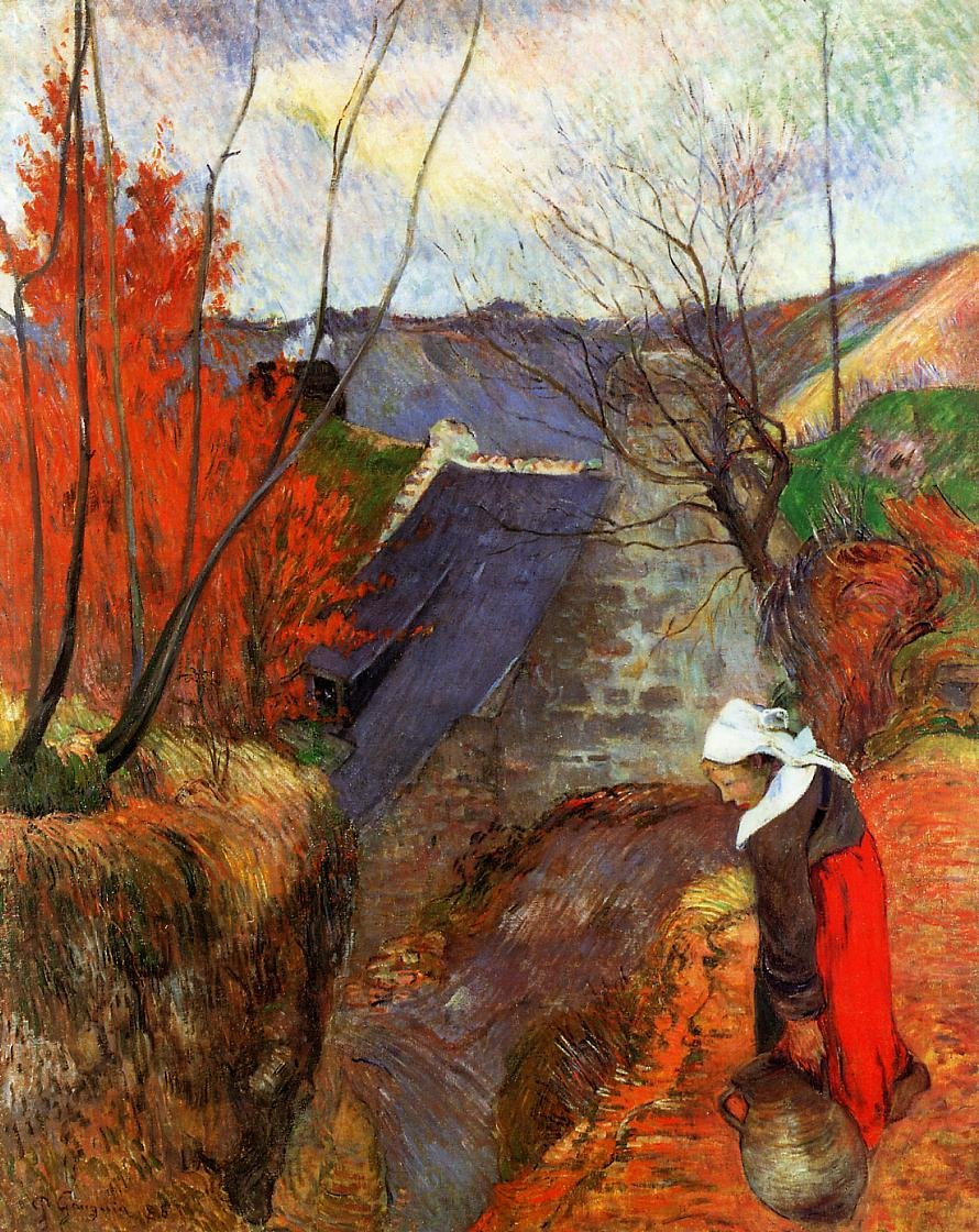 Breton Woman with Pitcher 1888 | Paul Gauguin | oil painting