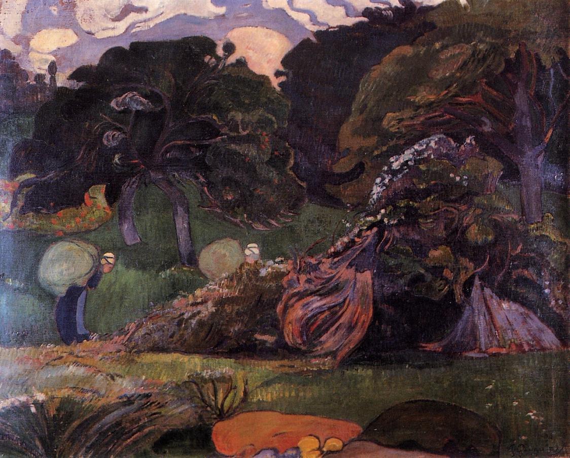 Brittany Landscape 1889 | Paul Gauguin | oil painting