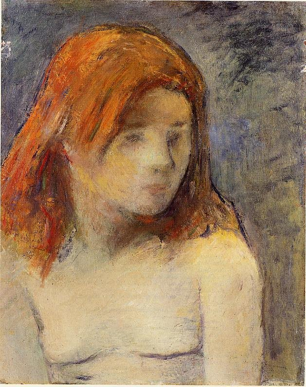 Bust of a Nude Girl 1884 | Paul Gauguin | oil painting