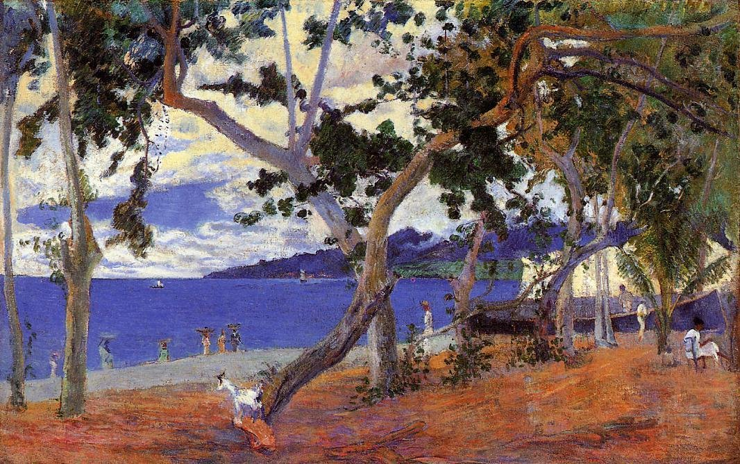 By the Seashore 1887 | Paul Gauguin | oil painting