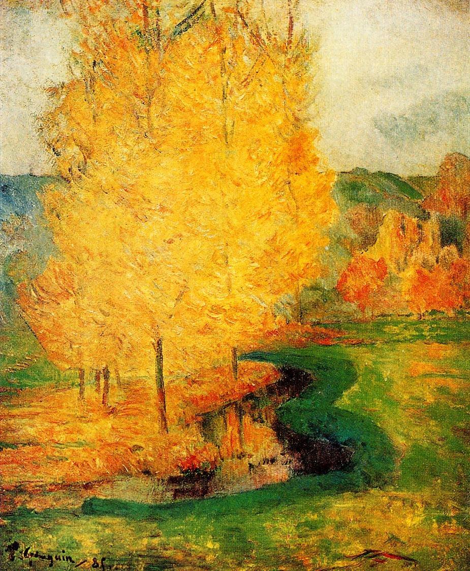 By the Stream Autumn 1885 | Paul Gauguin | oil painting