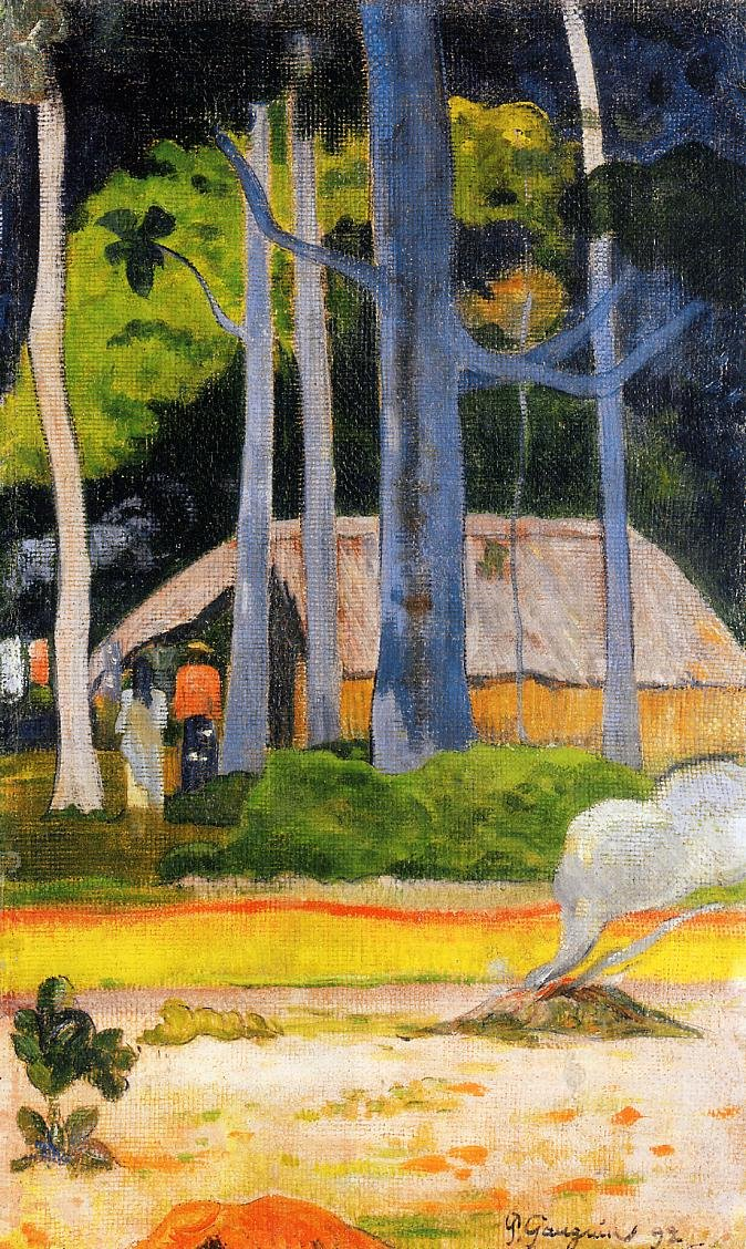 Cabin under the Trees 1892 | Paul Gauguin | oil painting