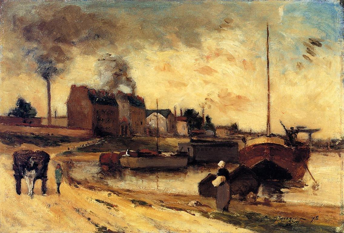 Cail Factories and Quai de Grenelle 1875 | Paul Gauguin | oil painting