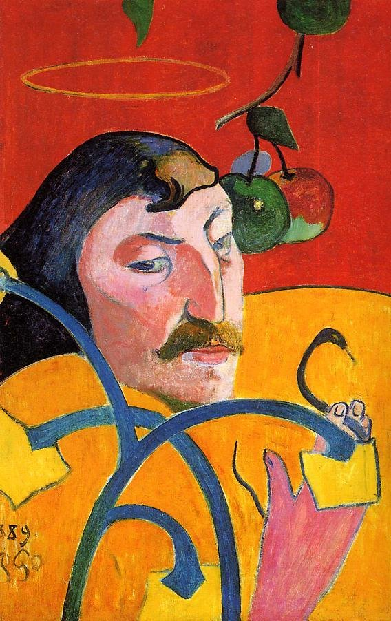Caricature Self Portrait 1889 | Paul Gauguin | oil painting