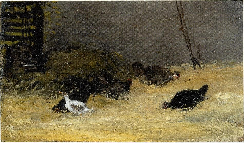 Chicken Coup 1873 1878 | Paul Gauguin | oil painting