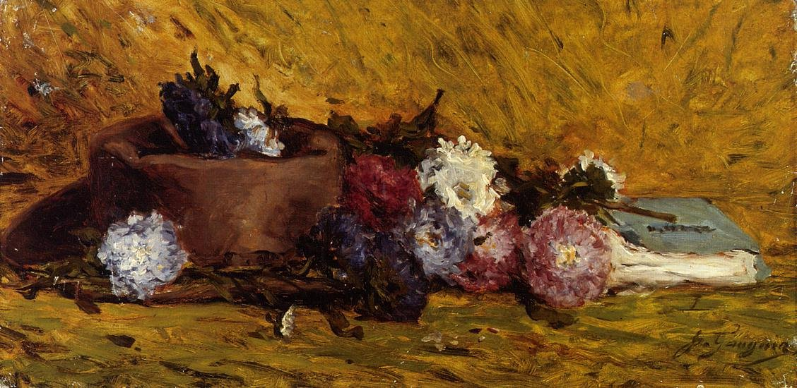 China Asters Hat and Book 1876 | Paul Gauguin | oil painting