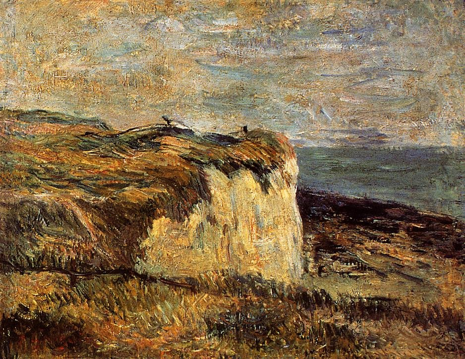 Cliff near Dieppe 1885 | Paul Gauguin | oil painting