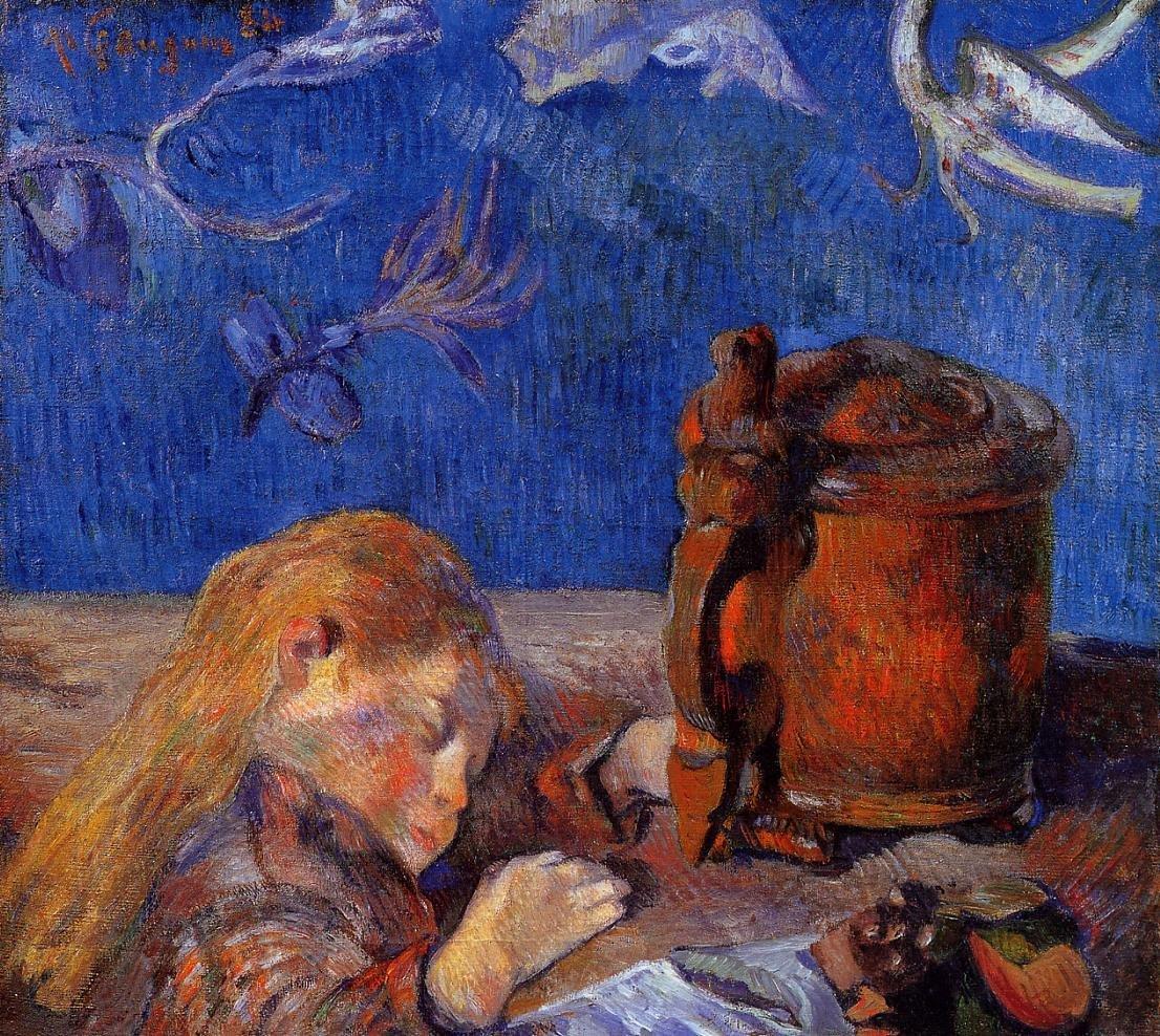 Clovis Gauguin Asleep 1884 | Paul Gauguin | oil painting