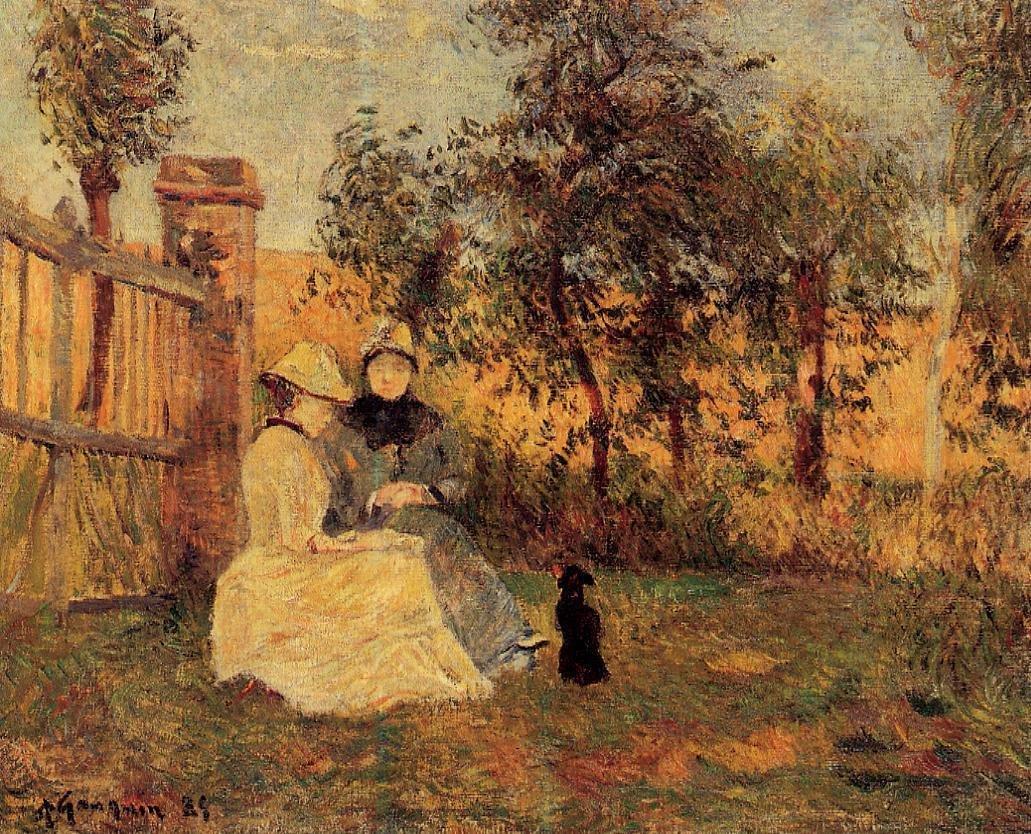 Conversation 1885 | Paul Gauguin | oil painting