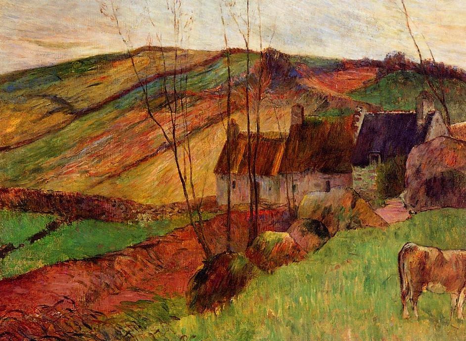 Cottages on Mount Sainte Marguerite 1888 | Paul Gauguin | oil painting