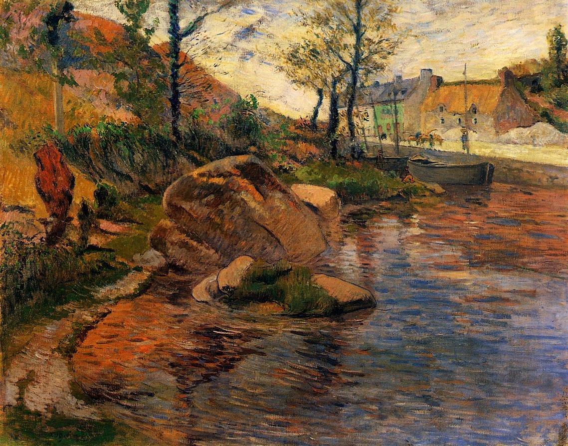 Cove opposite Pont Aven Harbor 1888 | Paul Gauguin | oil painting