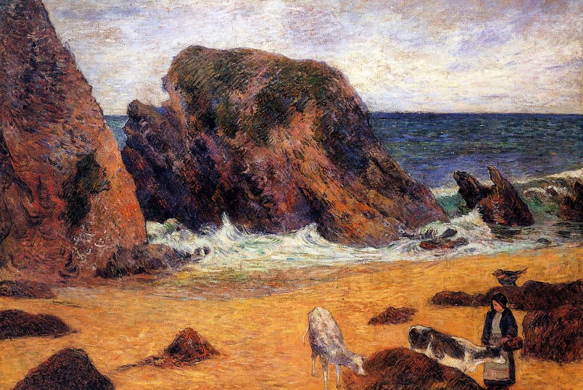 Cows by the Sea 1886 | Paul Gauguin | oil painting