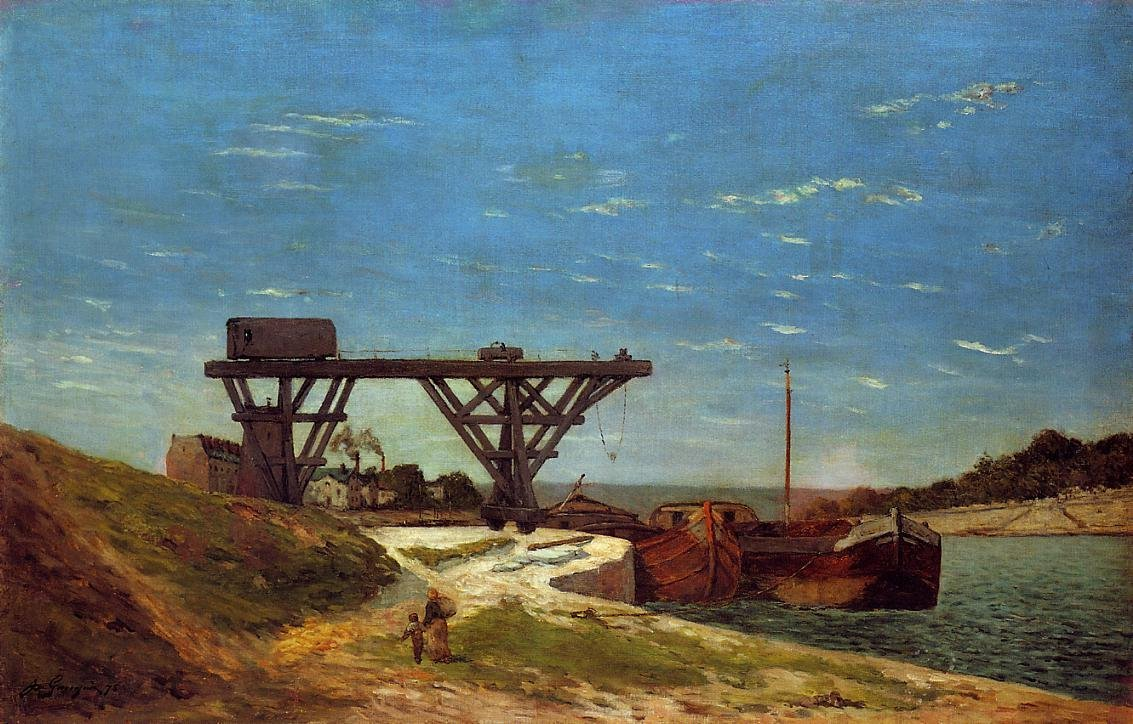 Crane on the Banks of the Seine 1875 | Paul Gauguin | oil painting