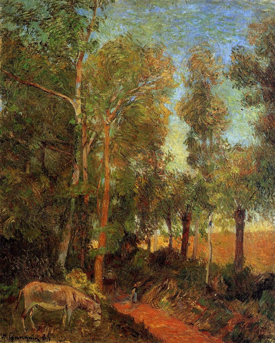 Donkey by the Lane 1885 | Paul Gauguin | oil painting