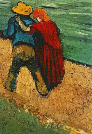 Two Lovers Fragment | Vincent Van Gogh | oil painting