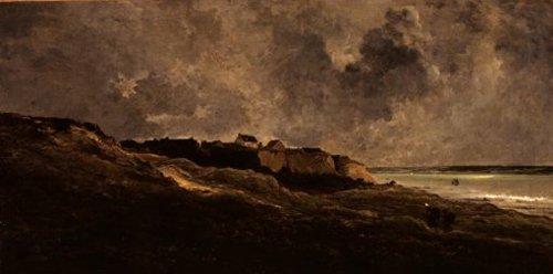 Rotsen bij Villerville sur mer 1872 | Charles Frangois Daubigny | oil painting
