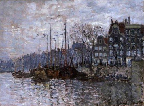 Molens in het Westzijderveld bij Zaandam 1871 | Claude Monet | oil painting