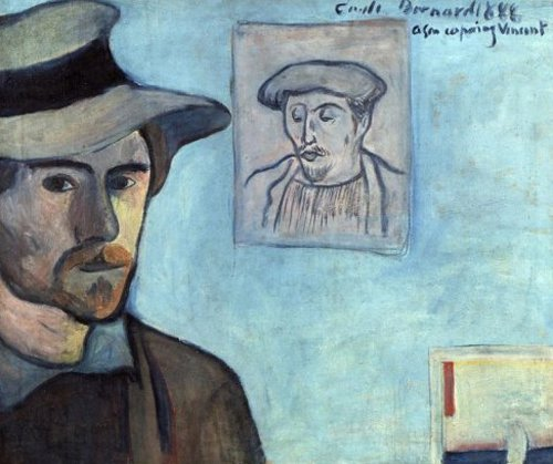 Self Portrait with Portrait of Gauguin 1888 | Emile Bernard | oil painting