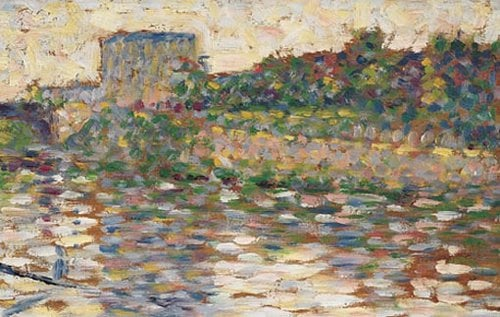 De Seine bij Courbevoie 1884 | Georges Seurat | oil painting