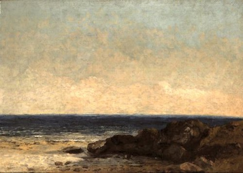 View of the Mediterranean at Maguelonne 1858 | Gustave Courbet | oil painting