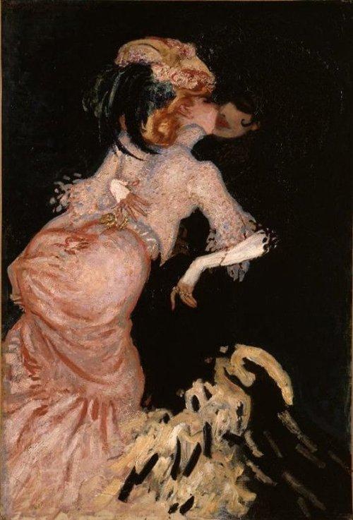 Twee vrouwen die elkaar omhelzen 1906 | Jan Sluijters | oil painting
