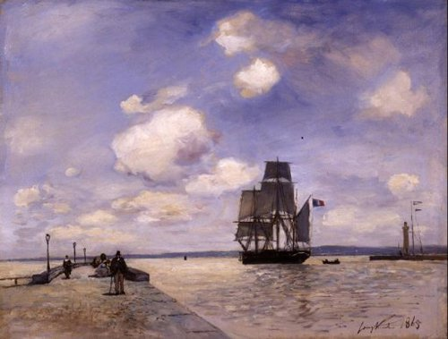 The Jetty of Honfleur 1865 | Johan Barthold Jongkind | oil painting