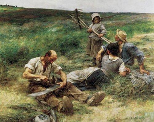 Hooien 1887 | Leon Augustin Lhermitte | oil painting