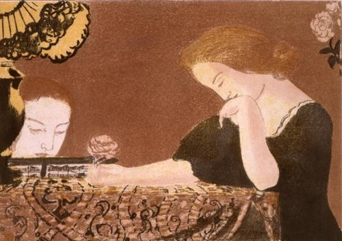 Amour   Nos ames en des gestes lents 1898 | Maurice Denis | oil painting