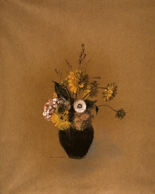Vaas met bloemen 1900 | Odilon Redon | oil painting