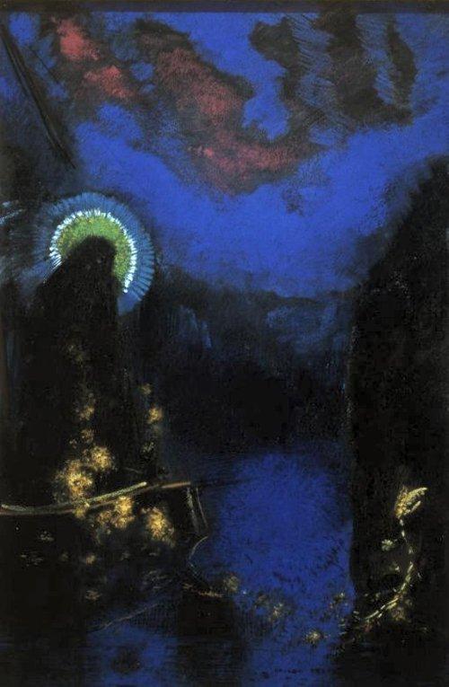 Vierge nimbee 1898 | Odilon Redon | oil painting