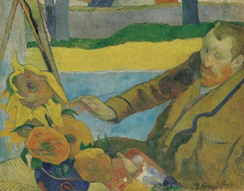 Van Gogh Painting Sunflowers 1888 | Paul Gauguin | oil painting