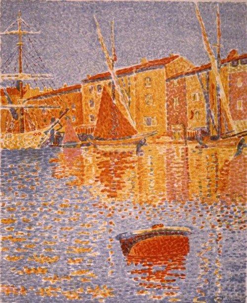 Havengezicht 1895   Paul Signac   oil painting