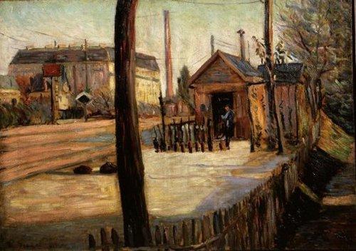 Spoorwegknooppunt bij Bois Colombes 1885 | Paul Signac | oil painting