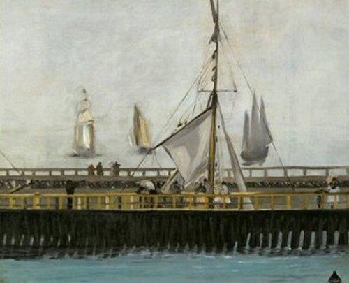 De pier van Boulogne sur Mer 1888 | Edouard Manet | oil painting