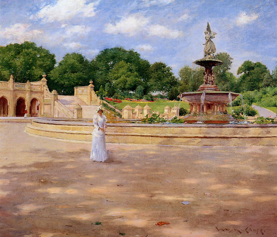 An Early Stroll in the Park  1890 | William Merritt Chase | oil painting