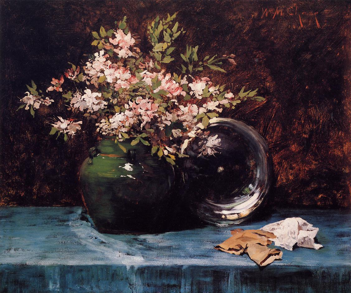 Azaleas  1882 | William Merritt Chase | oil painting