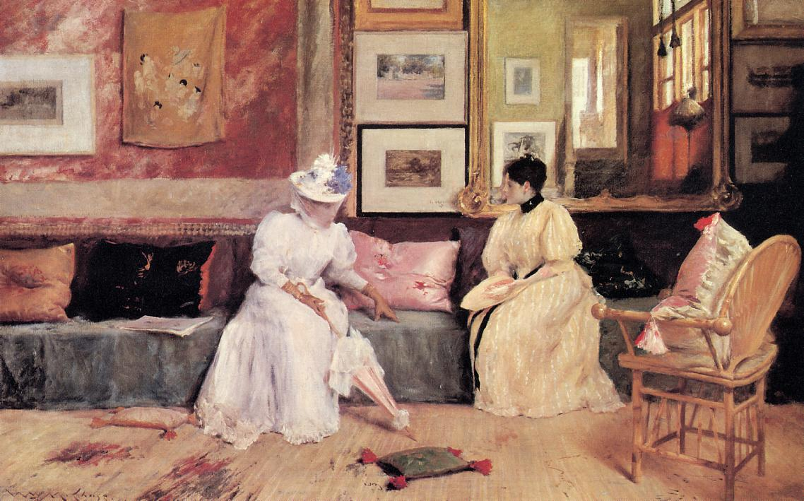 A Friendly Call  1895 | William Merritt Chase | oil painting