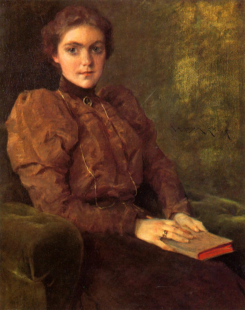 A Lady in Brown | William Merritt Chase | oil painting