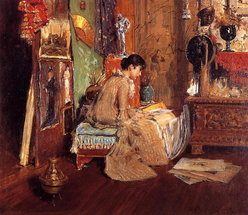 Connoisseur - The Studio Corner  1882   William Merritt Chase   oil painting