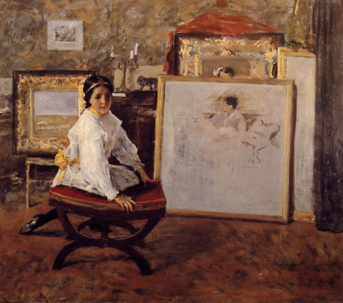 Did You Speak to Me  1897 | William Merritt Chase | oil painting