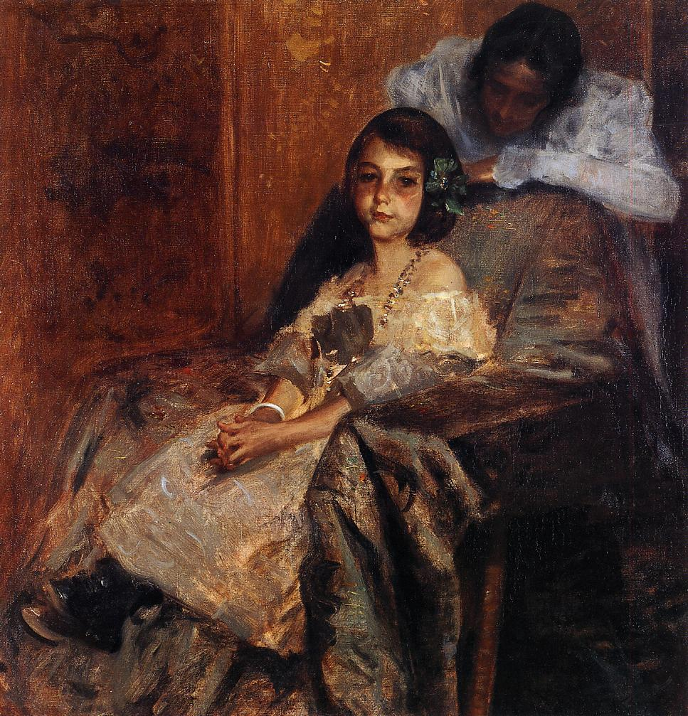 Dorothy and Her Sister  1901 | William Merritt Chase | oil painting