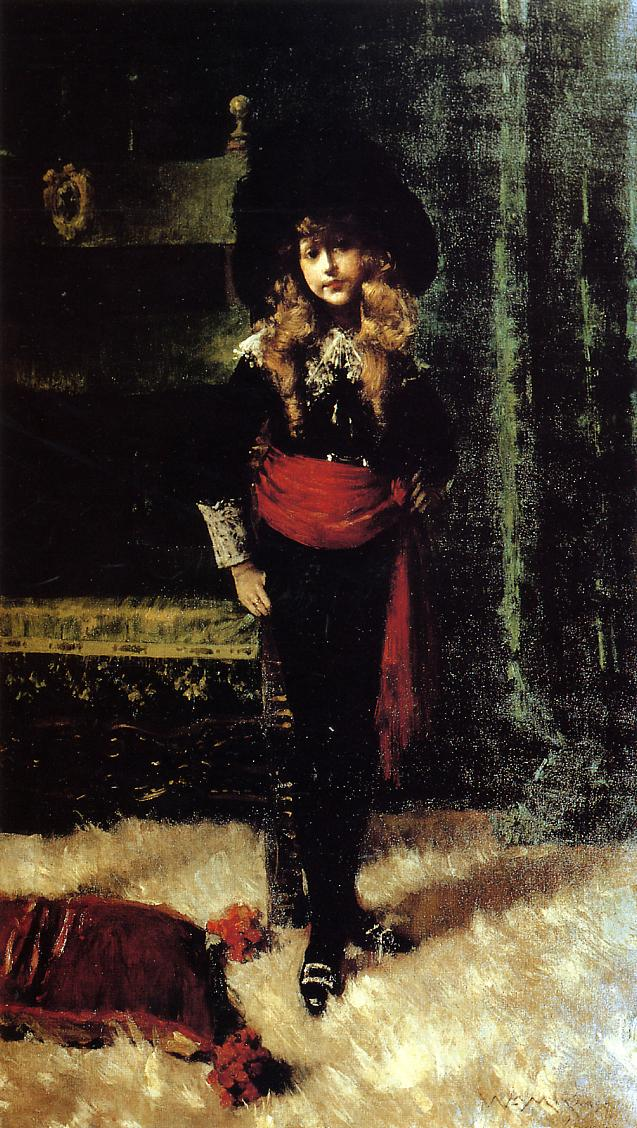 Elsie Leslie Lyde as 'Little Lord Fauntleroy'  1889 | William Merritt Chase | oil painting